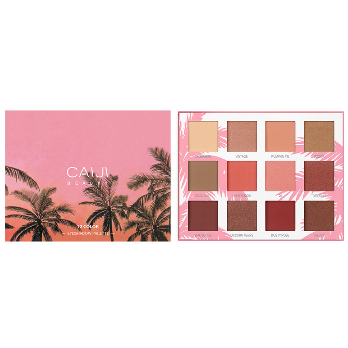 CaiJi 12 Colours Sunset Palm Tree Eyeshadow Palette | 01 | Equinox Outlet