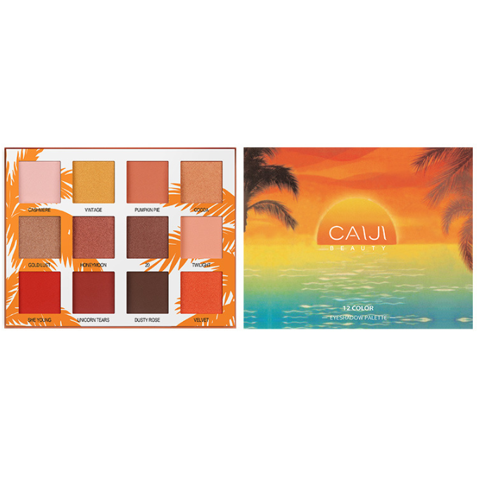 CaiJi 12 Colours Sunset Palm Tree Eyeshadow Palette | 03 | Equinox Outlet