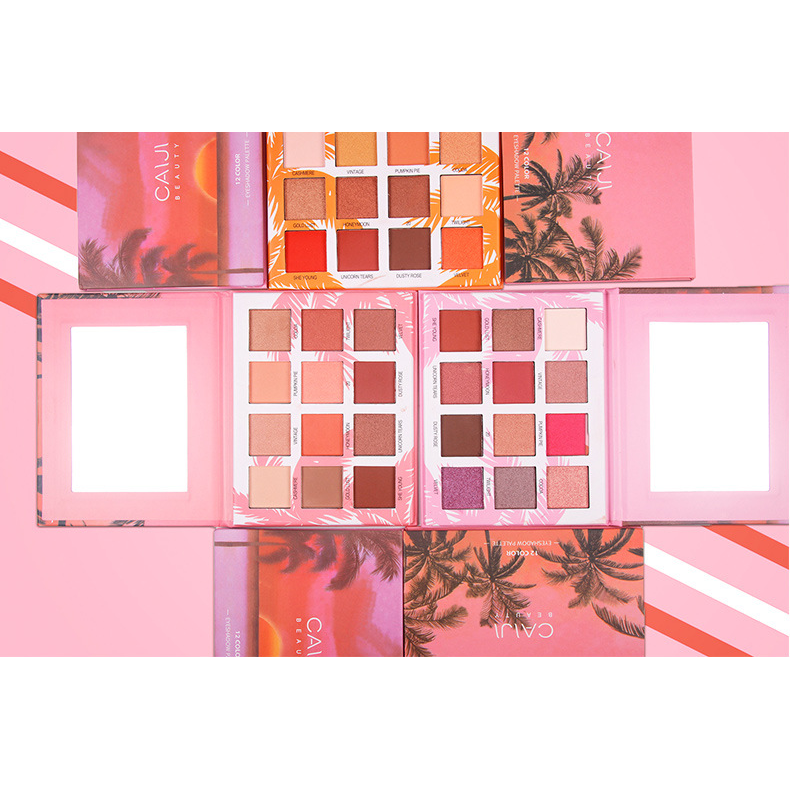 CaiJi 12 Colours Sunset Palm Tree Eyeshadow Palette | 02 | Equinox Outlet