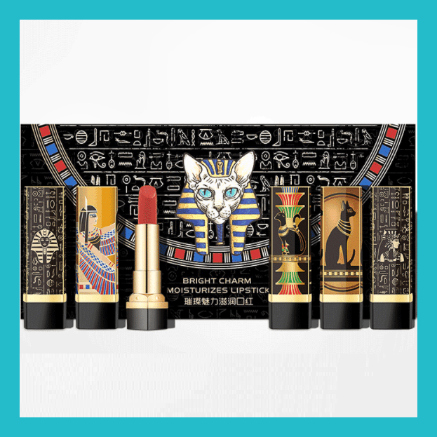 Caiji 5pcs Egyptian Bright Charm Moisture Lipstick Set | Equinox Outlet