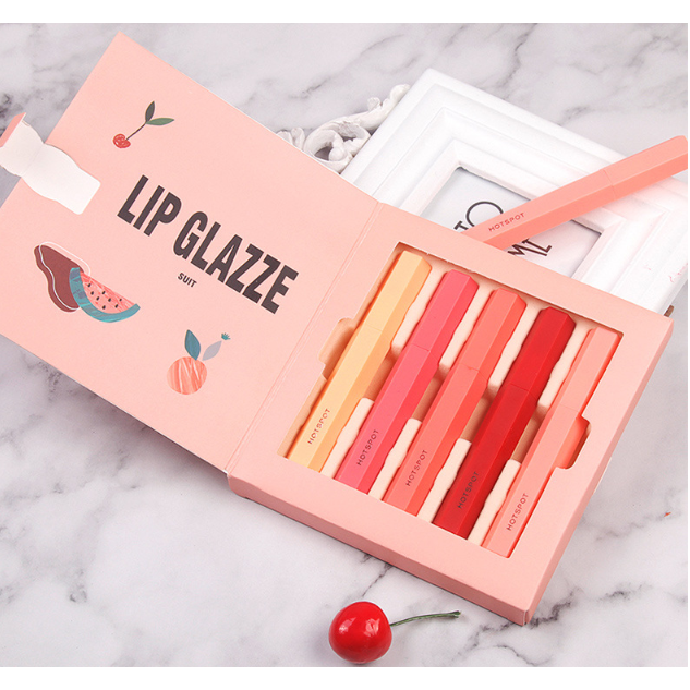 CaiJi Lip Glazze Suit 5pcs Liquid Lipstick Boxed Set | Equinox Outlet