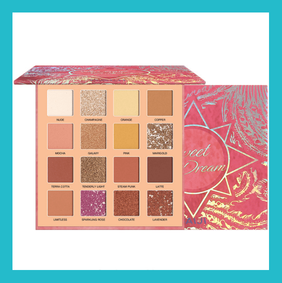 Caiji Sweet Dreams 16 Colour Eyeshadow Palette - Streamer Nippon | Equinox Outlet