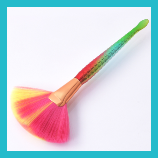 Large Mermaid Rainbow Fan Brush | Equinox Outlet