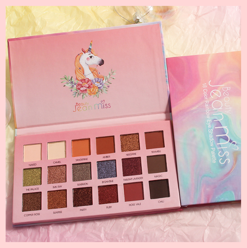 Jean Miss 18 Colours Rainbow Unicorn Eyeshadow Palette | Equinox Outlet