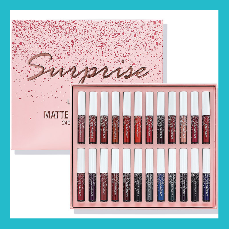 Langmanni 24 Colour Surprise Matte Liquid Lipstick Set | Equinox Outlet