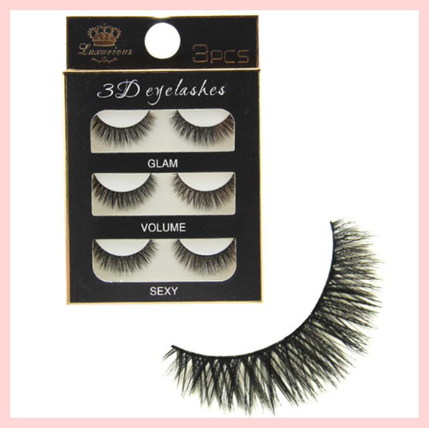 Luxurious 3D False Eyelashes 3 Pairs Pack | Equinox Outlet