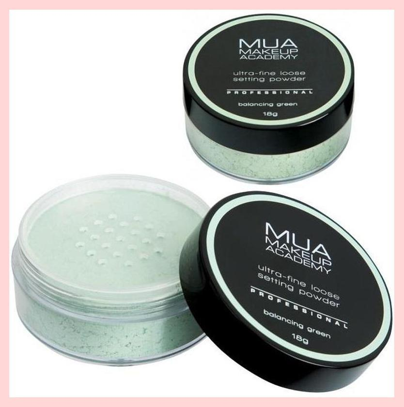 MUA Professional Loose Setting Powder – Balancing Green (neutralising redness) | Equinox Outlet