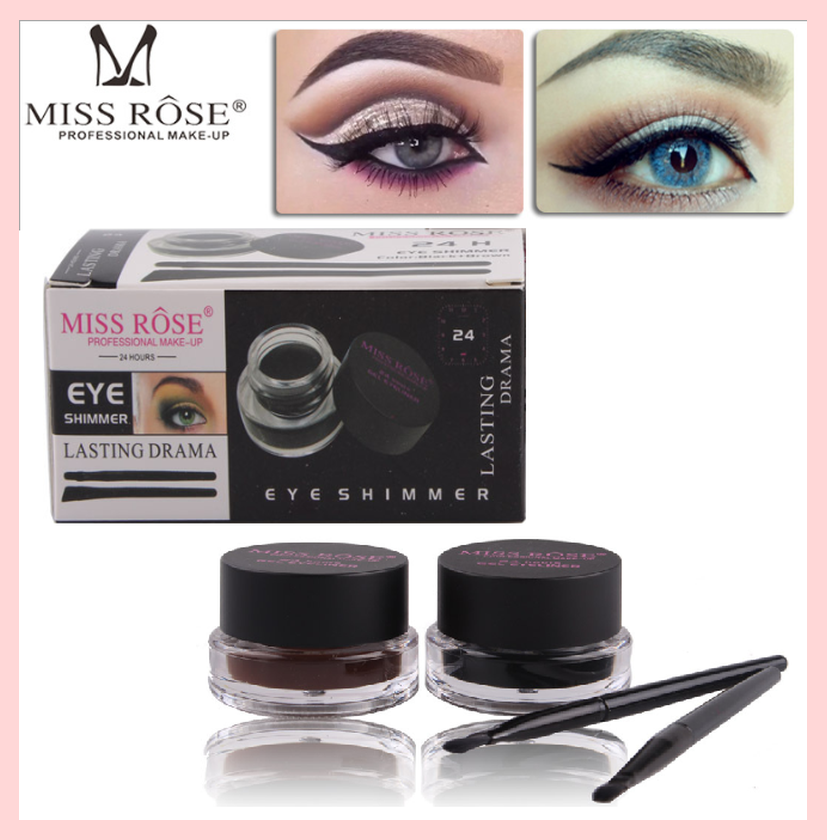 Miss Rose 24 Hours Long-Wear Gel Eyeliner Black + Brown Duo Set | Equinox Outlet