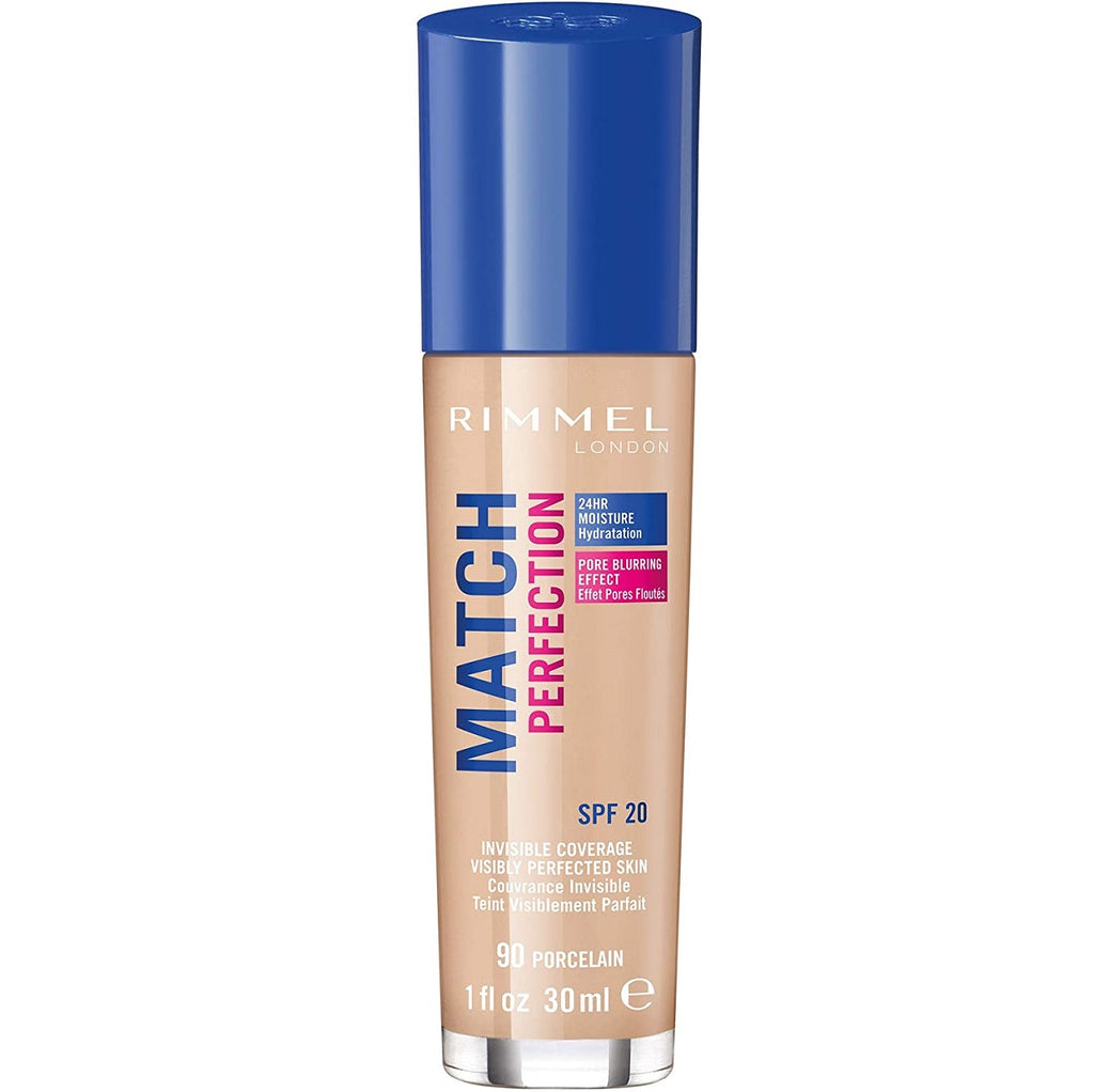 Rimmel London Match Perfection Liquid Foundation - 90 Porcelain