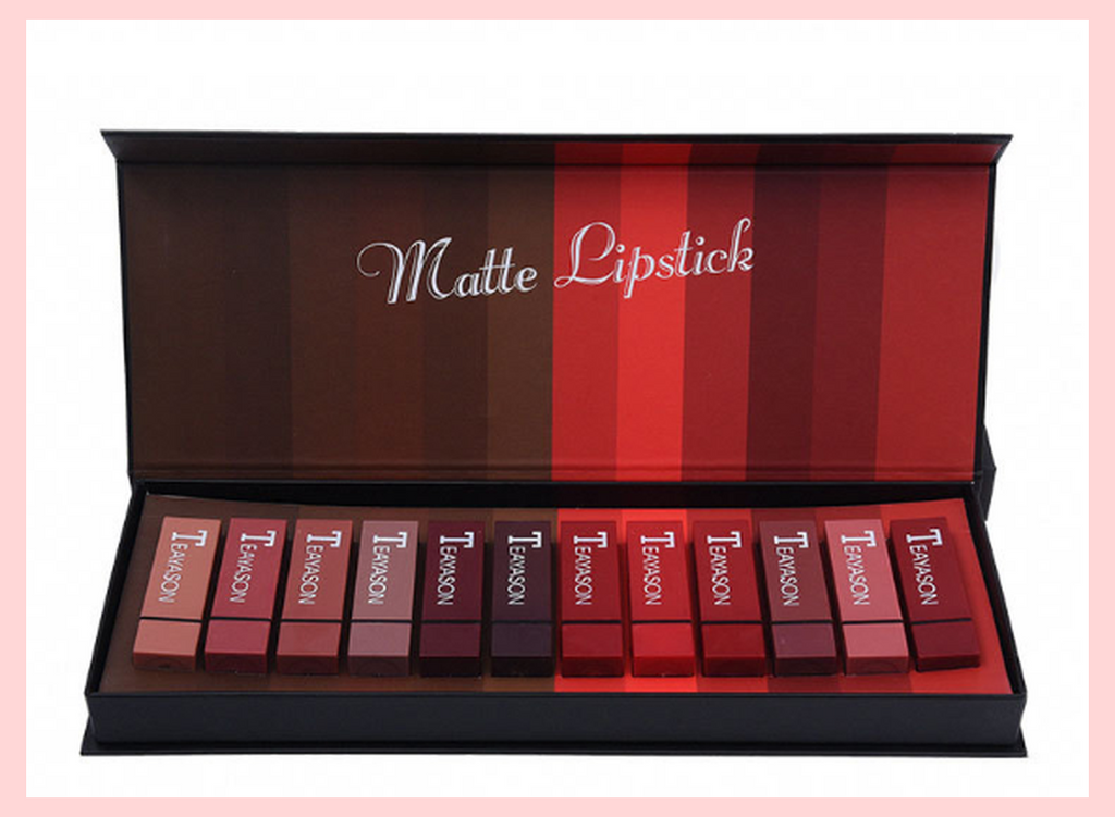 The Black Box | 12 Pcs Matte Lipstick Set | Equinox Outlet