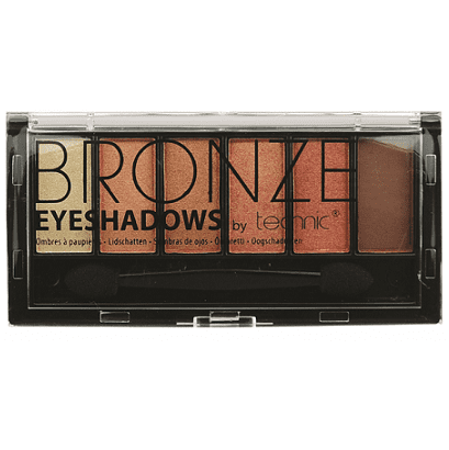 Technic 6 Colours Eyeshadow Palette – Bronze - equinoxoutlet