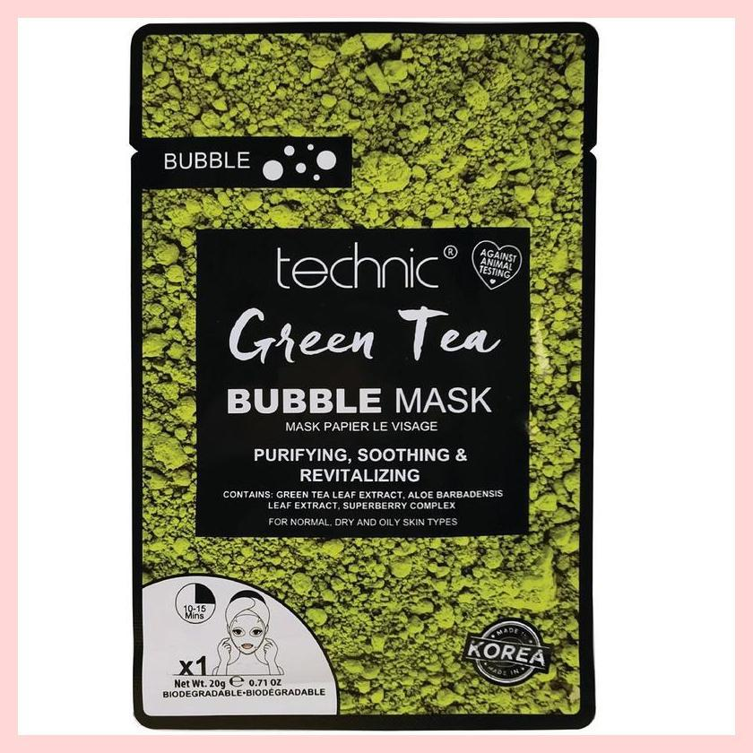 Technic Green Tea Bubble Sheet Face Mask | Equinox Outlet