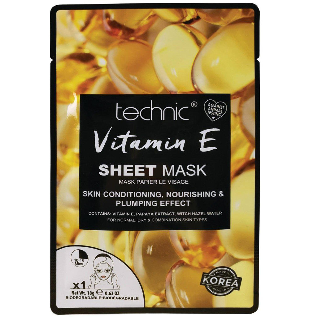 Technic Vitamin E Sheet Face Mask | Equinox Outlet