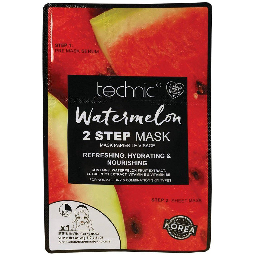 Technic Watermelon 2 Step Sheet Face Mask | Equinox Outlet
