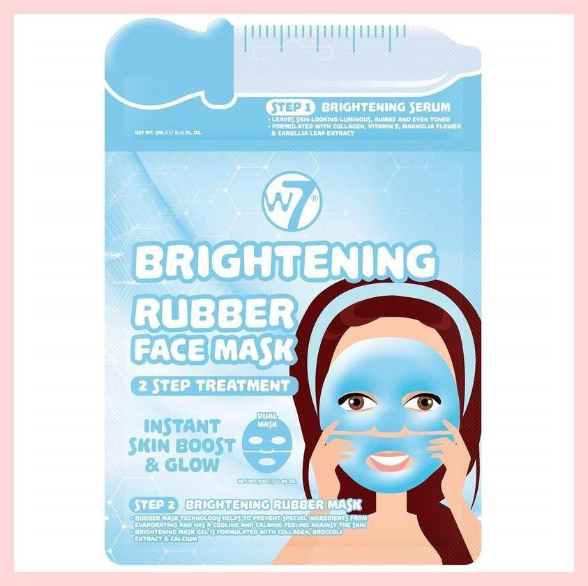 W7 Brightening 2 Step Treatment Rubber Face Mask | Equinox Outlet