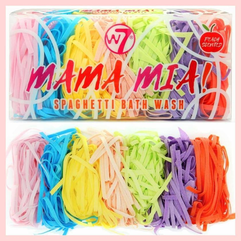 W7 Mama Mia! Spaghetti Bath Soap Colourful Strips – Peach Scented | Equinox Outlet
