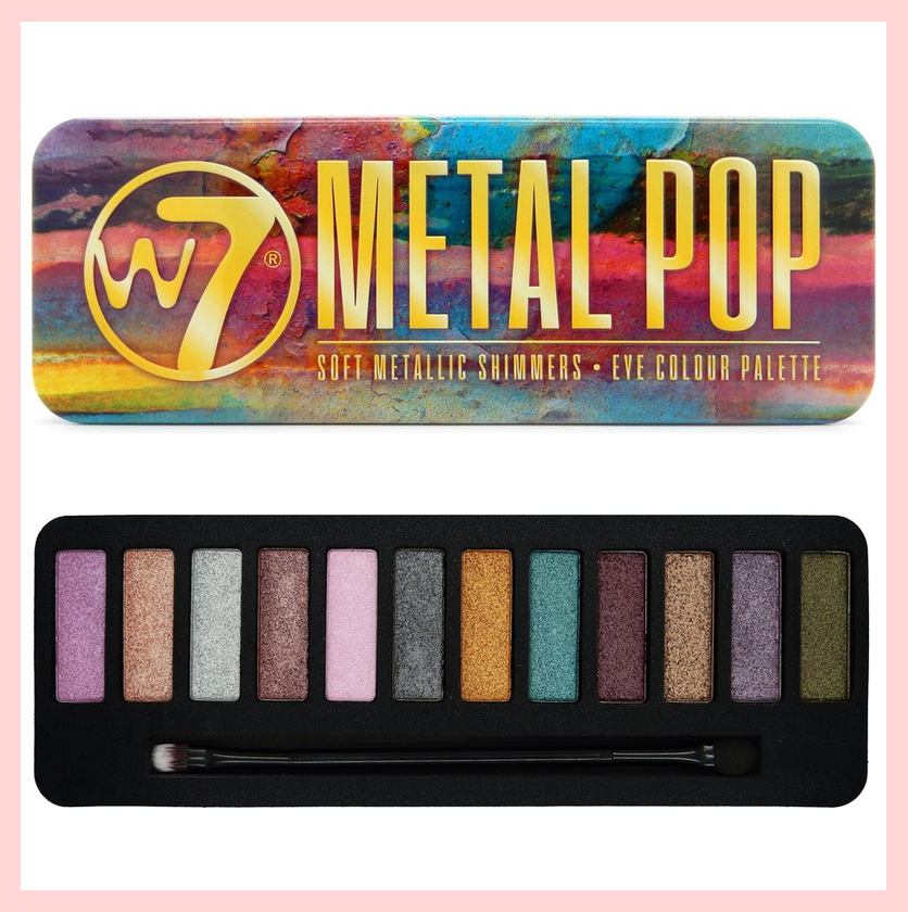 W7 Metal Pop Soft Metallic Shimmers Eyeshadow Palette | Equinox Outlet