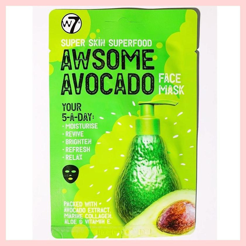 W7 Super Skin Superfood Sheet Face Mask – Awsome Avocado | Equinox Outlet
