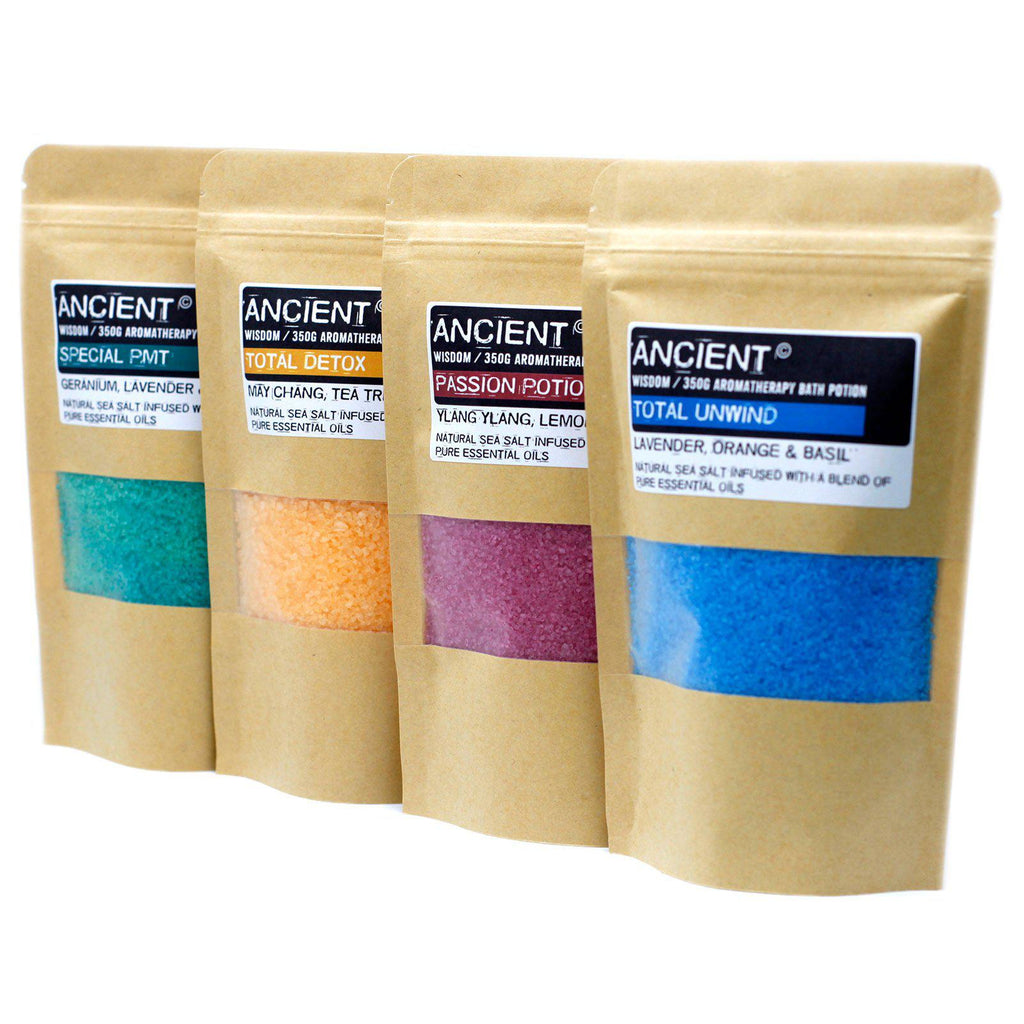 Aromatherapy Bath Potion in Kraft Bag 350g - Total Unwind | Equinox Outlet