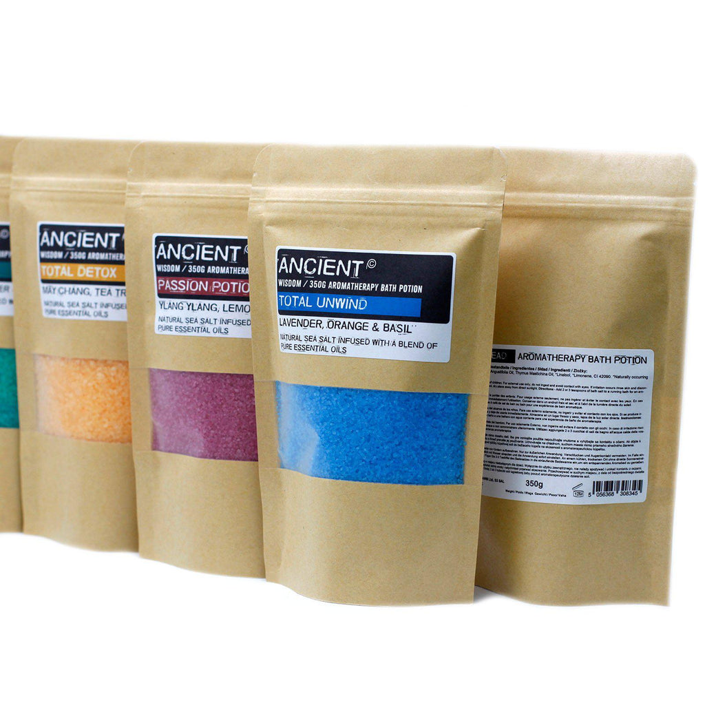 Aromatherapy Bath Potion in Kraft Bag 350g - Wake Up | Equinox Outlet