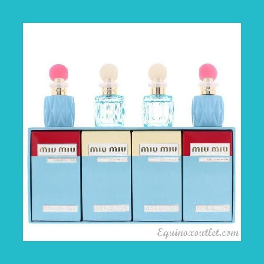 Miu Miu Miniature Gift Set 2 x 7.5ml EDP + 2 x L'Eau Bleue 7.5ml EDP | Equinox Outlet