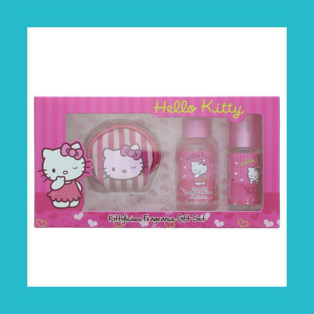 Hello Kitty Pink Love Gift Set 15ml EDT + 50ml Shower Gel + Coin Purse | Equinox Outlet