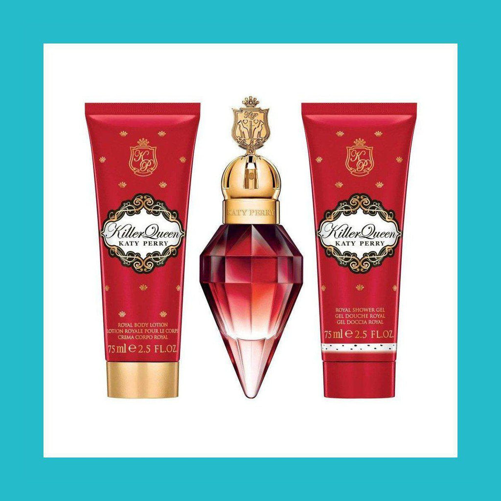 Katy Perry Killer Queen Gift Set 30ml EDP + 75ml Body Lotion + 75ml Shower Gel | Equinox Outlet