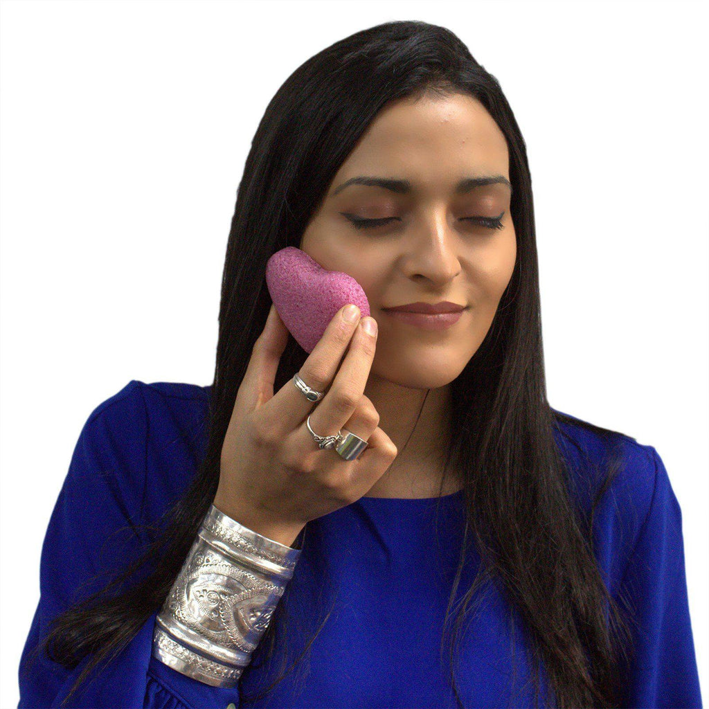 Konjac Heart Sponge - Peach | Equinox Outlet