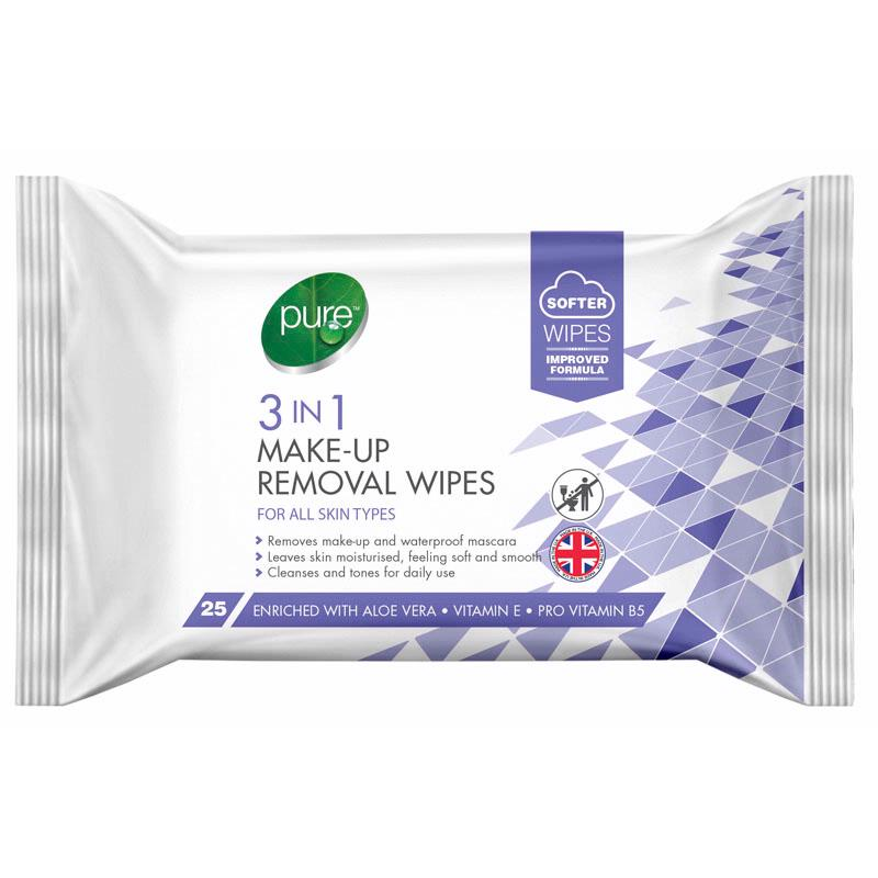 Pure 3 In 1 Make Up Remover Wipes | Equinox Outlet