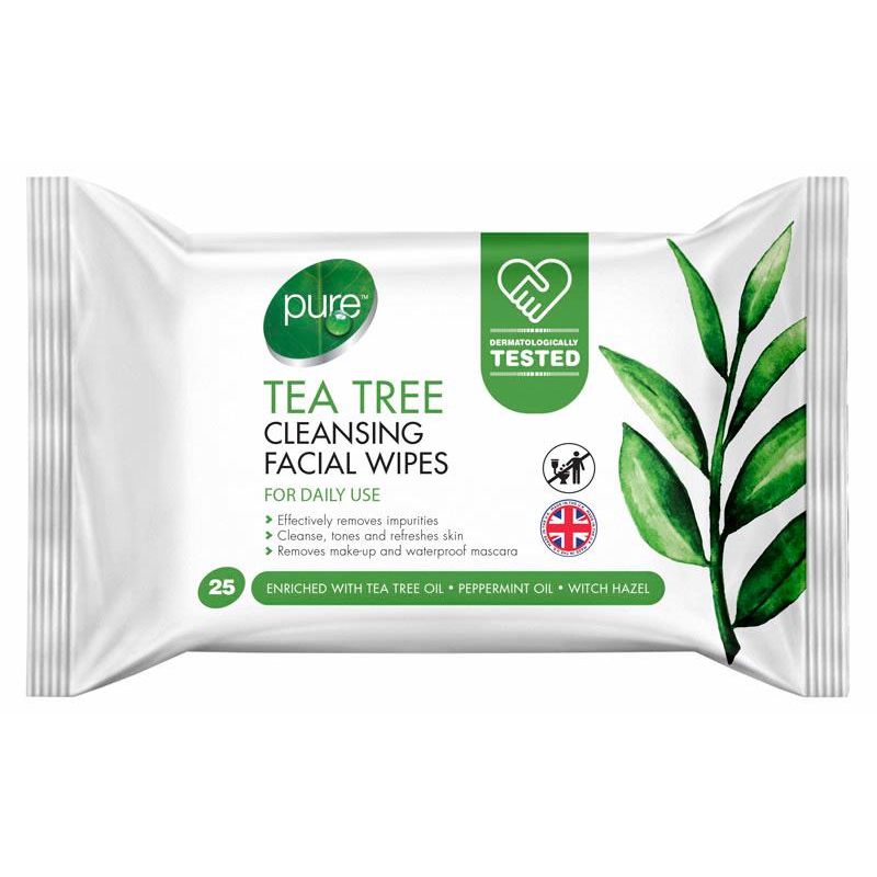 Pure Tea Tree Wipes 25 Pack | Equinox Outlet