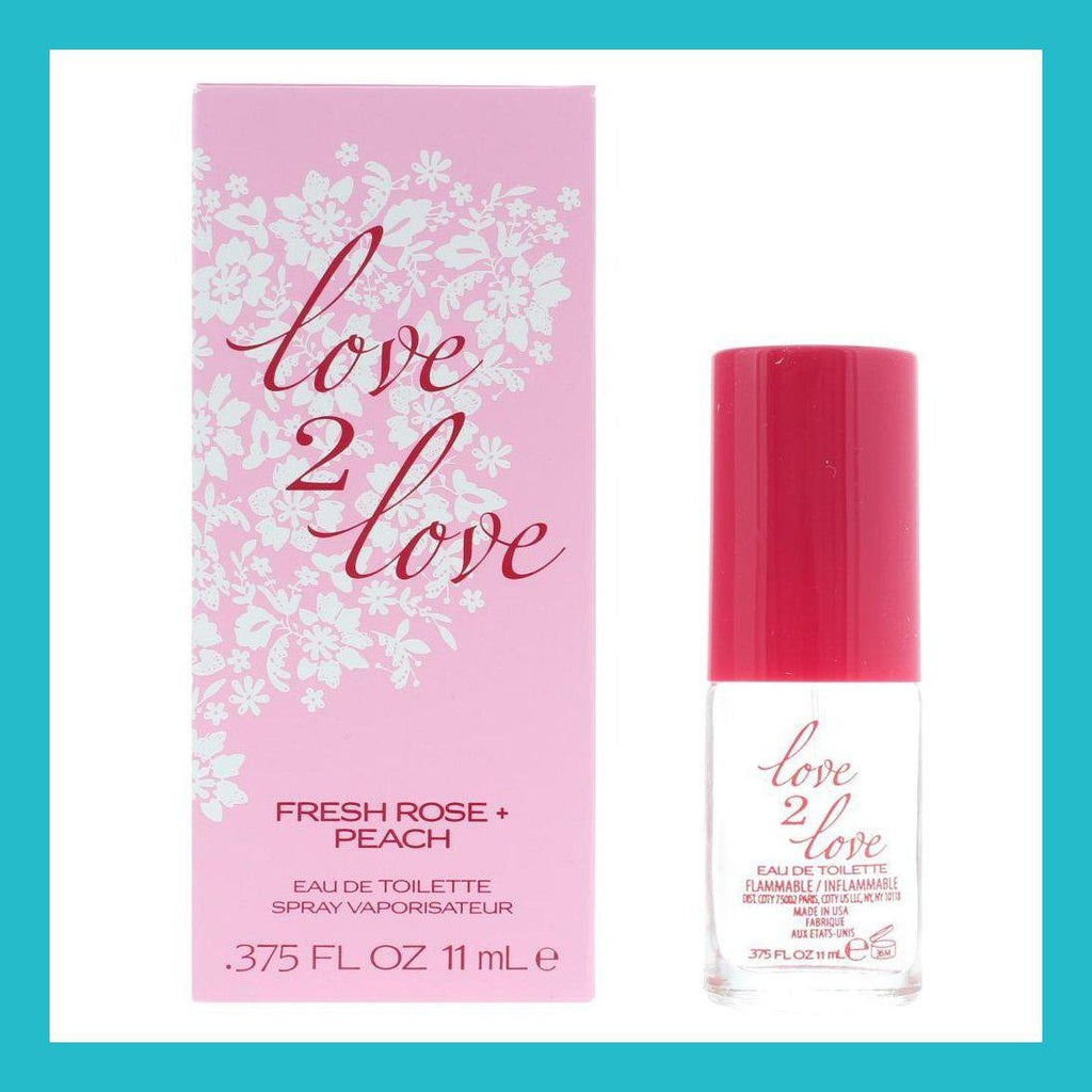Love2Love Fresh Rose + Peach Eau de Toilette 11ml Spray | Equinox Outlet