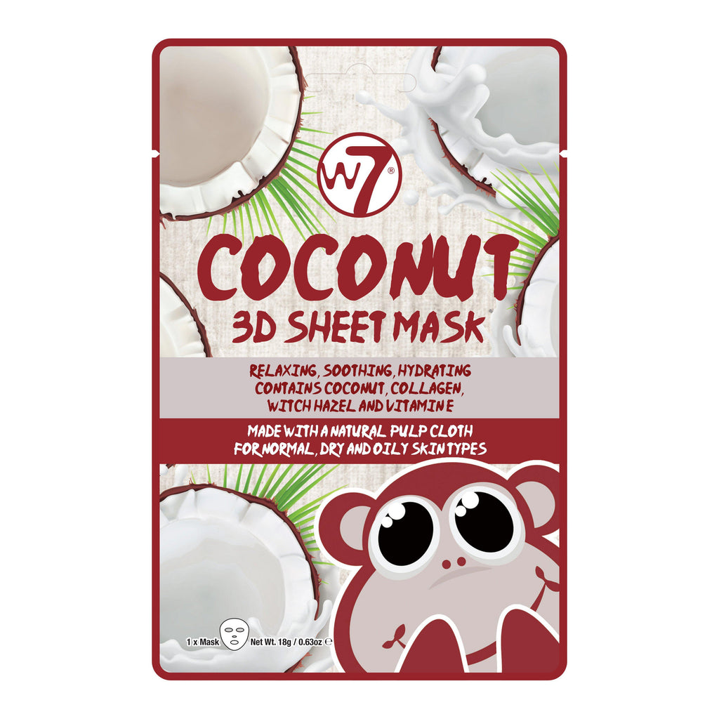 W7 Coconut 3D Sheet Face Mask | Equinox Outlet