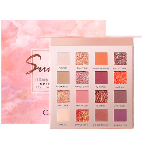 CaiJi 16 Colours Sunset Impressionism Eyeshadow Palette | Equinox Outlet