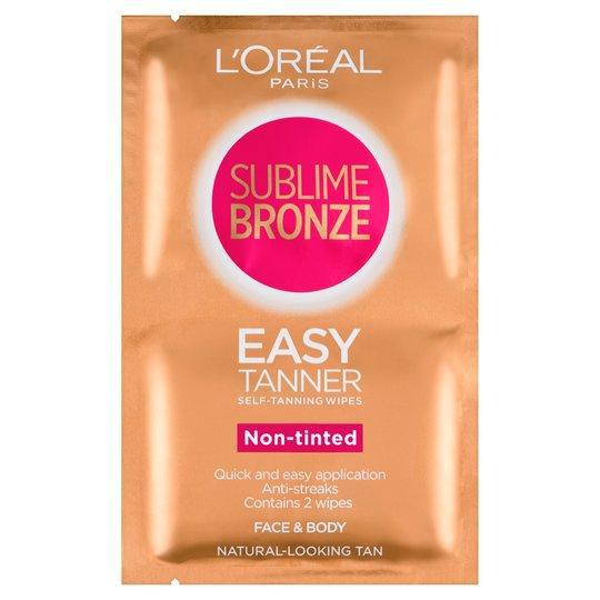 L'Oréal Loreal Sublime Self-Tan Face & Body Wipes (2 x 5.6ml) | Equinox Outlet