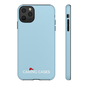 Our Heroes Fire Fighters - Soft Blue iCare Tough Phone Case