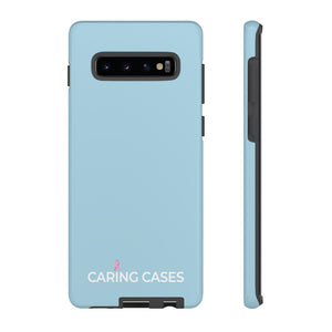 Breast Cancer - Blue iCare Tough Phone Case