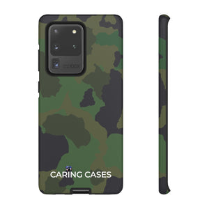 Veterans - LIMITED EDITION GREEN CAMO - iCare Tough Phone Case