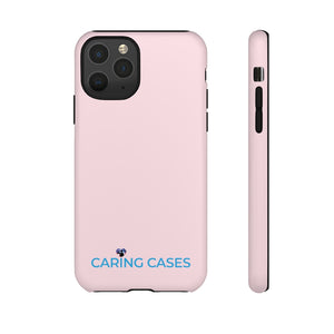 Veterans - Pink w/blue iCare Tough Phone Case