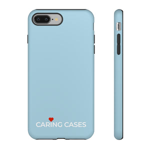 Healthy Hearts - Blue iCare Tough Phone Case