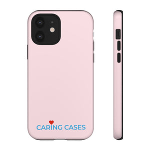 Healthy Hearts - Pink w/Blue iCare Tough Phone Case