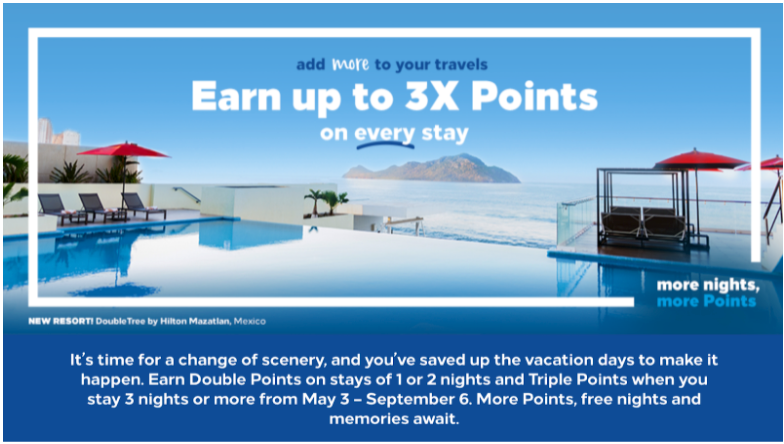 Hilton 3 times the points expires September 6th