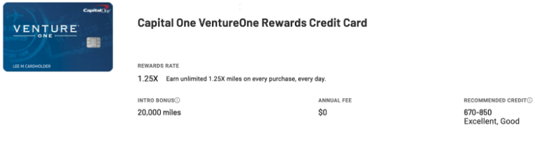 Venture One Credit Cards