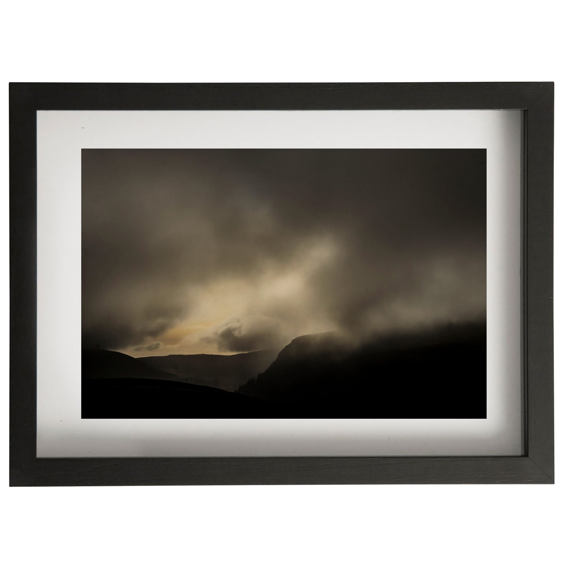 Clouded landscape framed