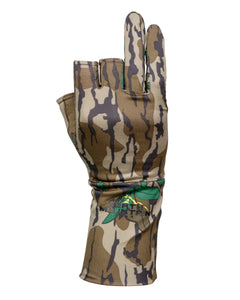 Fingerless Mossy Oak Greenleaf Gloves