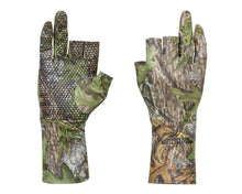 Load image into Gallery viewer, MOSSY OAK FINGERLESS OBSESSION GLOVES