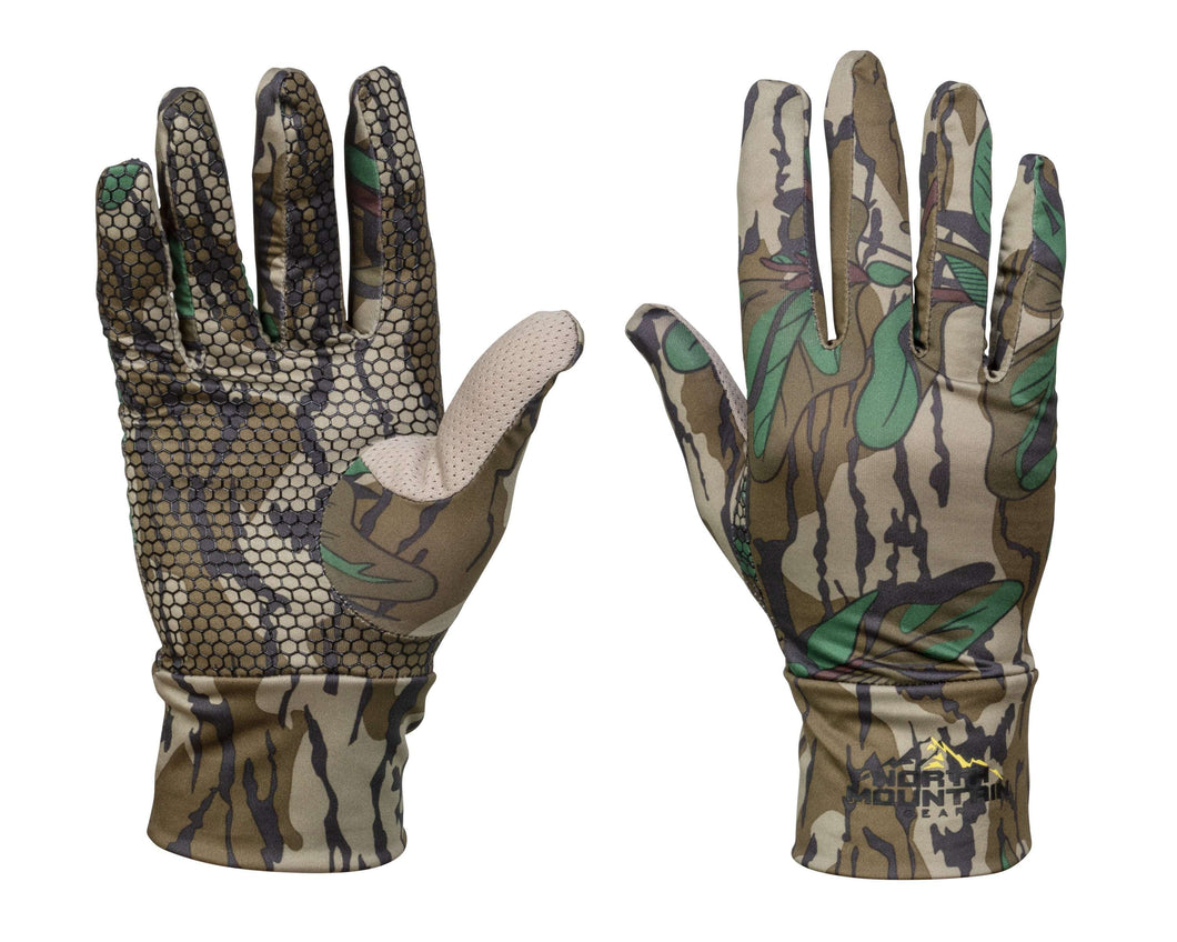 Mossy Oak GreenLeaf Camouflage Stretch Fit Gloves