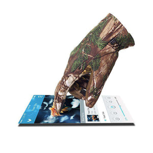Camouflage Hunting Gloves Smart Phone Compatible With Sure Grip Palms Water Resistant-North Mountain Gear