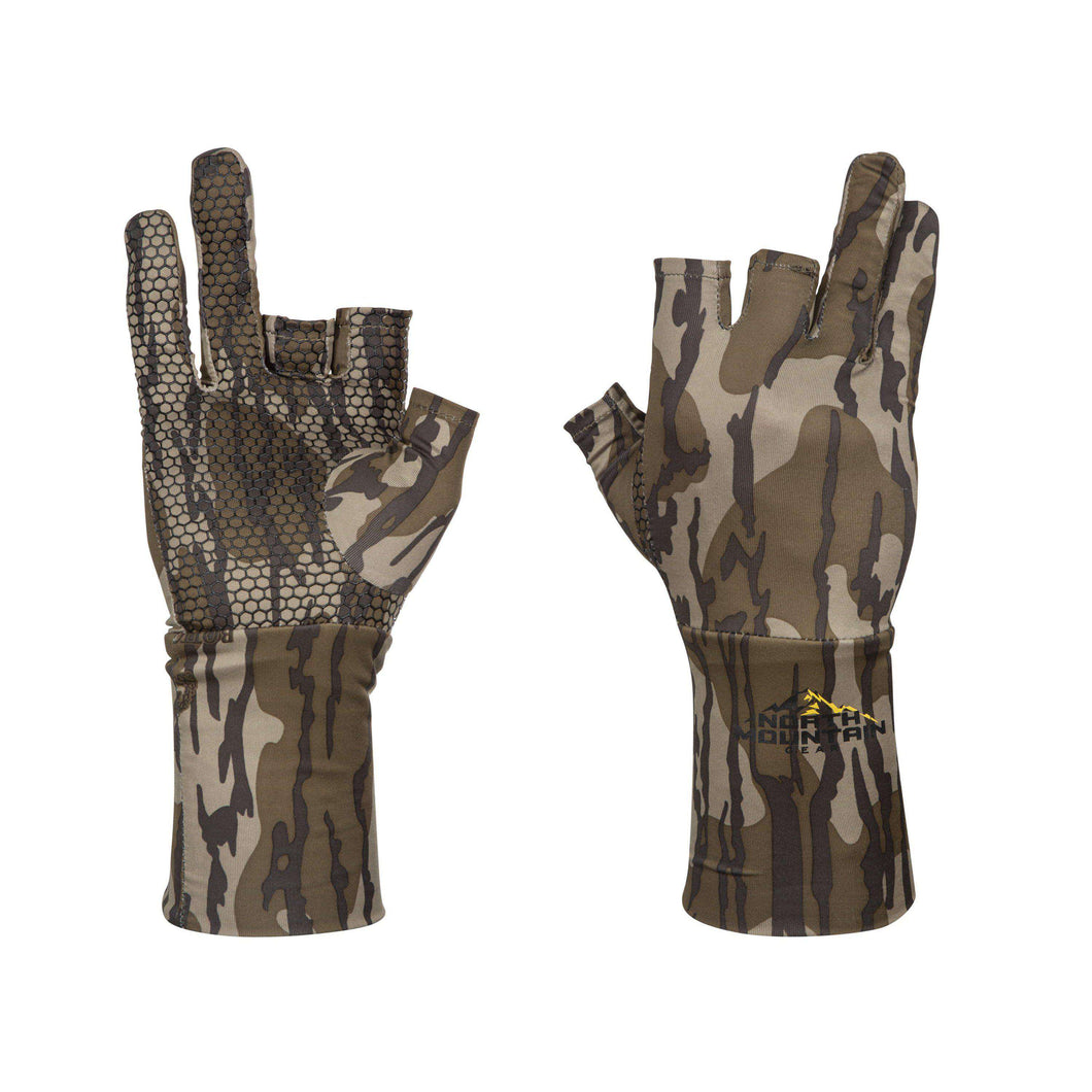 Fingerless Mossy Oak Bottomland Gloves-North Mountain Gear