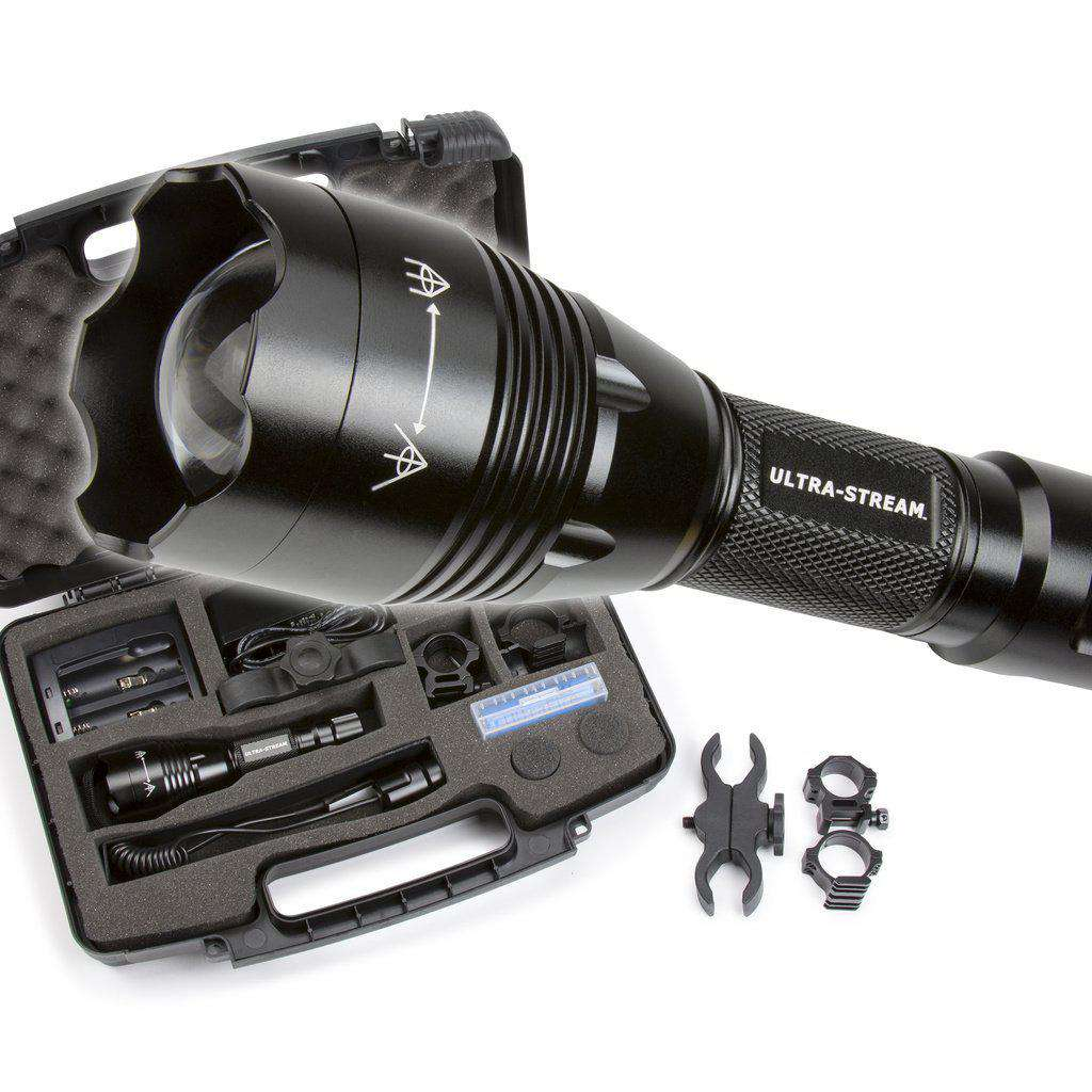 ULTRA STREAM - XLR41 FOCUSABLE BEAM FLASHLIGHT - RED - GREEN - WHITE LEDS - INCLUDED-North Mountain Gear