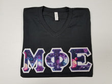 Load image into Gallery viewer, Custom Galaxy Letters - Short Sleeve Bella-Canvas Crew Neck T-Shirt